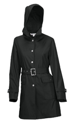 Trench Coat with Detachable Hood - 9013