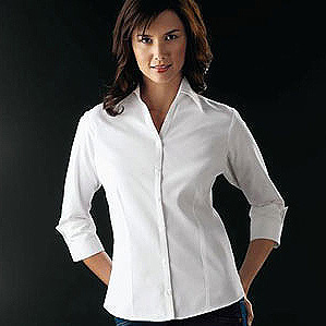 Ladies' 3/4 Sleeve Open-Neck Blouse #00L6290