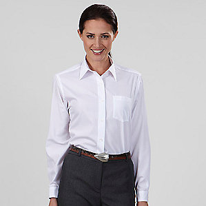 Ladies' Broadcloth Long Sleeve Shirt #13V0051