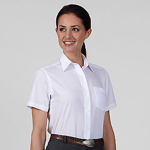 Ladies' Broadcloth Short Sleeve Shirt #13V0052