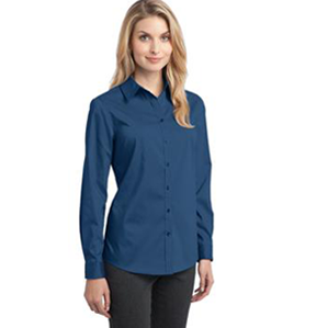 Ladies' Stretch Poplin Shirt #L646